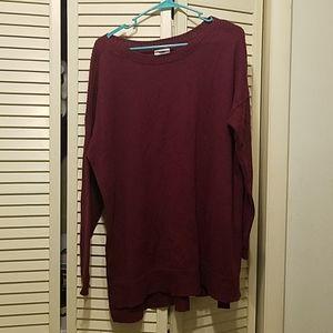 XL Old Navy Lightweight Burgundy Sweater